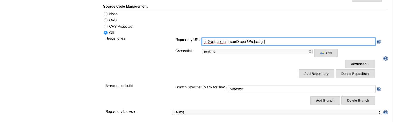 Version control settings screenshot