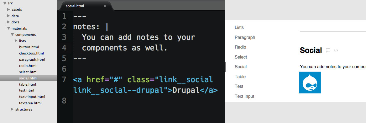 Fabricator social components example