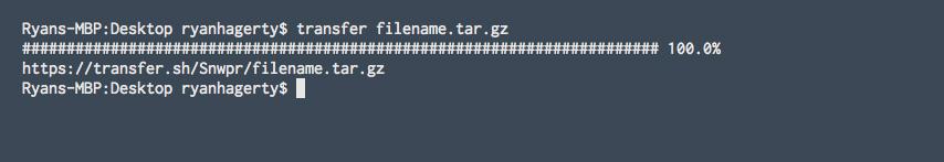 transfer filename.tar.gz