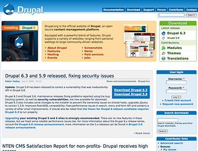 Drupal.org Web CMS