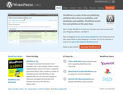 WordPress.org Web CMS