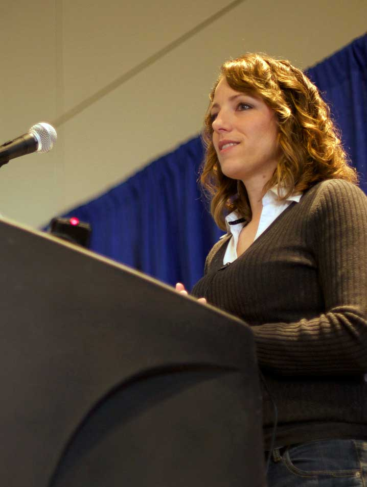 Jen Lampton delivering her keynote at MADCamp 2015